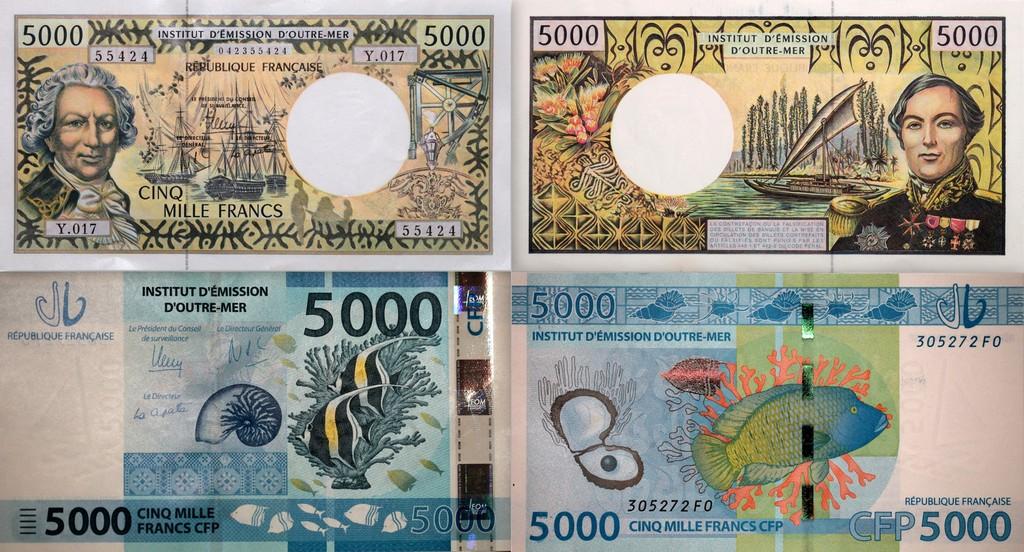 Billets De 5000 Francs Pacifique