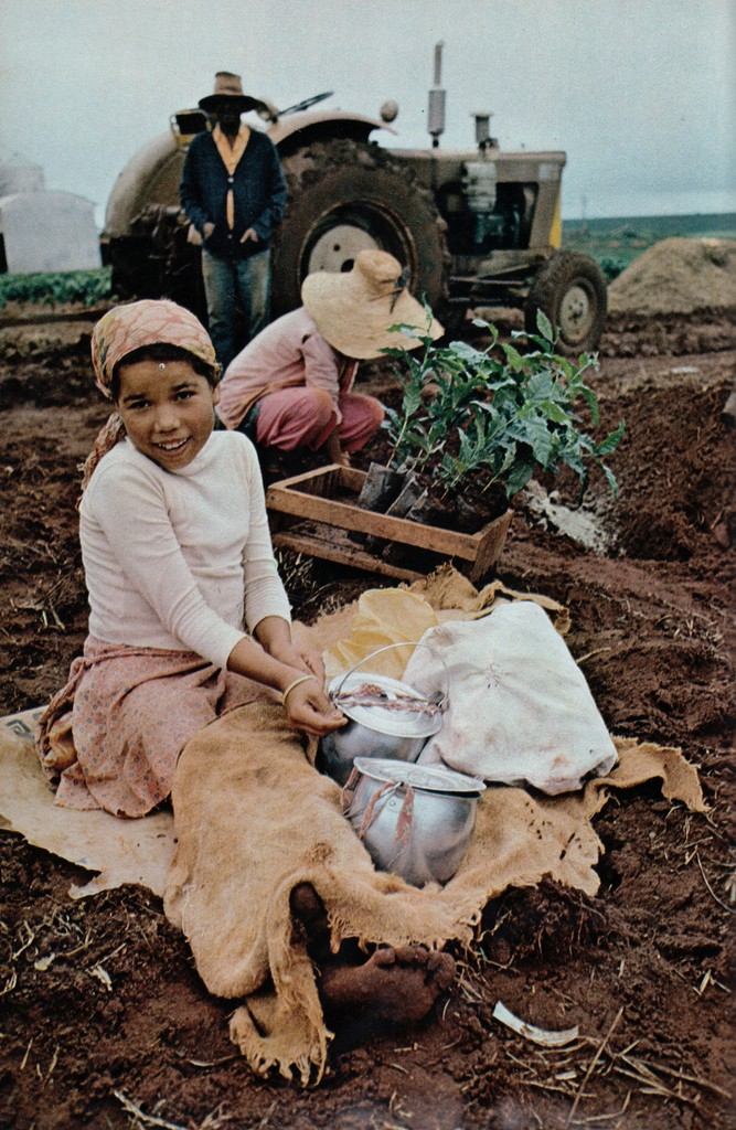 National Geographic February 1978 girl Brazil agricultural