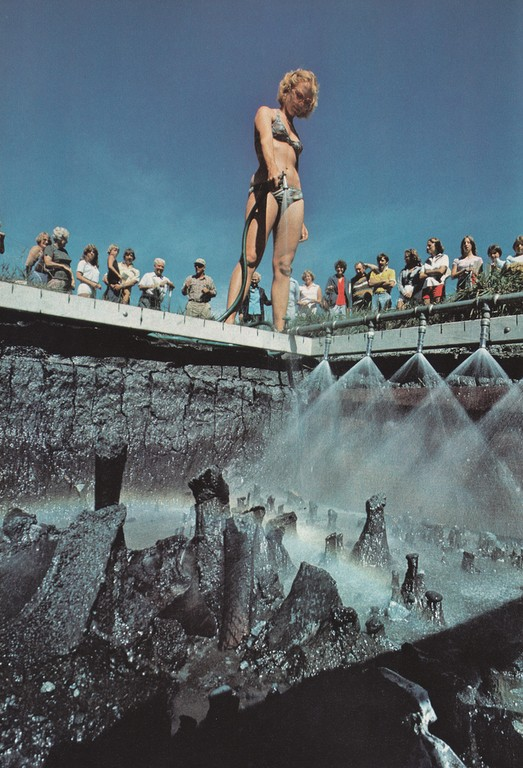 National Geographic Sept 1979 Bikini girl hose down the site of an ancient pond