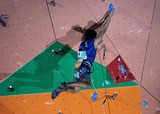French Member Competitors climb a long, difficult route IFSC world youth championships Climbing Noumea 2014 New Caledonia