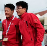 Chinese team Members IFSC world youth championships lead and speed Climbing Noumea 2014 New Caledonia