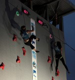 Female competitor IFSC world youth championships lead and speed Climbing Noumea 2014 New Caledonia