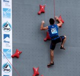 France male competitor IFSC world youth championships lead and speed Climbing Noumea 2014 New Caledonia