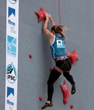 Russian female competitor IFSC world youth championships lead and speed Climbing Noumea 2014 New Caledonia