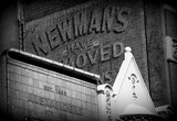 Architecture Melbourne city Newman's have moved Building advertising on a brick wall Australia