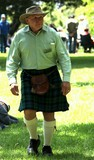 Man wearing a kilt in Melbourne City Australia National Day