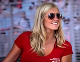 Ray-ban sunglasses blonde girl sexy red shirt white smile Melbourne City Australia