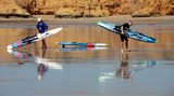 Paddleboard or rescue board from Australia miror effect Great Ocean Road Victoria