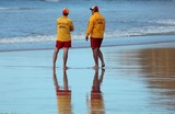 Surf rescue guy on the beach Surf Life Saving Australia