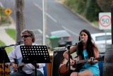 Musicians playing Great Ocean Road Victoria Australia