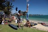 Canon Inc. manufacture of imaging and optical products Sport photograph PWA slalom Race final Noumea New Caledonia 観音