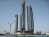 Etihad Buildings Complex Abu Dhabi from Khor Al Bateen United Arab Emirates
