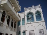 Traditional arabic architecture detail in Muscat old town Oman