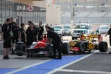 United Arab Emirates formula 1 mechanics waiting for control