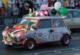 mini austin on abu dhabi corniche uae national day 40th anniversary