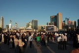 crowd national day abu dhabi corniche sunset uae