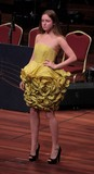 Brisbane Australia Queensland yellow dress for young babe fashion model
