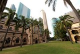 Cathedrale Saint Stephen Brisbane old church and new building Australia