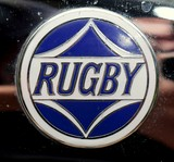 Rugby front grill emblem from a 1925 Rugby Touring Durant Motors Company of New York City USA