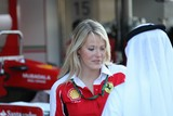 F. DALE scuderia Ferrari Team public relation attractive blond womanformula one United Arab Emirates
